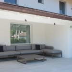 area living esterna con sofa